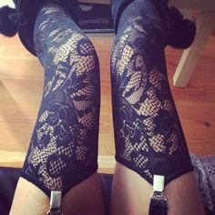 I love thigh highs Nylons, Lace Tights, Thigh High Socks, Thigh Highs, Sexy Stockings, Stockings Lingerie, Fashion Beauty, Womens Fashion, Swagg