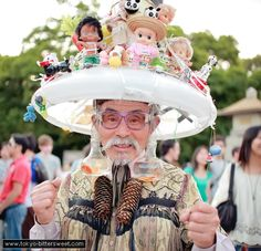 "Eijiro Miyama, also known as Bōshi Ojisan (""Hat Man"") or Harajuku Ojisan"
