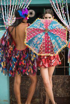 Fantasia Pássaro e Gueixa! #carnaval #farmrio