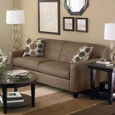 images of living rooms with tan  walls | To Paint A Small Living Room With Round Glass Table Top And Brown ...