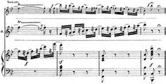 An example of a coloratura passage from a soprano role. It includes a more difficult variant (top stave) with a leap to a high D Final cadenza from the Valse in Ophélie's Mad Scene (Act IV) from the opera Hamlet by Ambroise Thomas (piano-vocal score, p. Film Books, The Voice, Piano, Sheet Music, Goal, Scene, Paper, Musicals, Singers