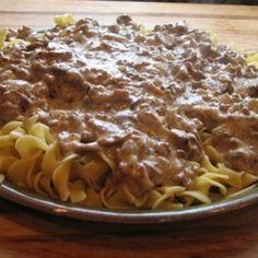 Beef Stroganoff Recipe - Low-Fat Beef Stroganoff Low Fat Recipe - Low Calorie Recipe