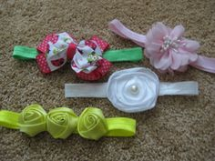 Set of 4 headbands You get ALL 4 headbands one low price by RNNan13 on Etsy Baby Items For Sale, Headbands, Etsy, Head Bands