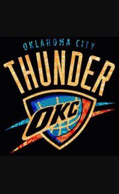 Oklahoma City Thunder Official NBA Team Logo Poster