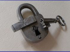 Antique French padlock