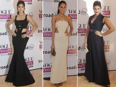 The Vogue Beauty Awards 2014 which took place yesterday were full of the who's who of Bollywood schmoozing around. With some air-kisses and compliments being exchanged, the glamour quotient of the event definitely was charged up. With black and white being the colours of the evening, check out the celebrities who monocromed up! Don't Miss! Bollywood Actresses Who Need to Tone Down Their Style Image Courtesy: IANS