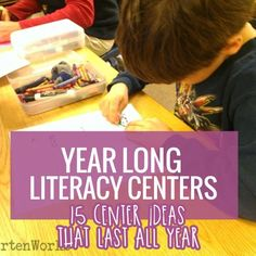 Literacy centers can be a blessing or a pain. This is how to create literacy centers that are smart for the teacher and effective for kindergarten students. Reading Centers, Reading Activities, Reading Groups, Kindergarten Centers, Teaching Kindergarten, Literacy Stations, Literacy Centers, Education Quotes For Teachers, Elementary Education