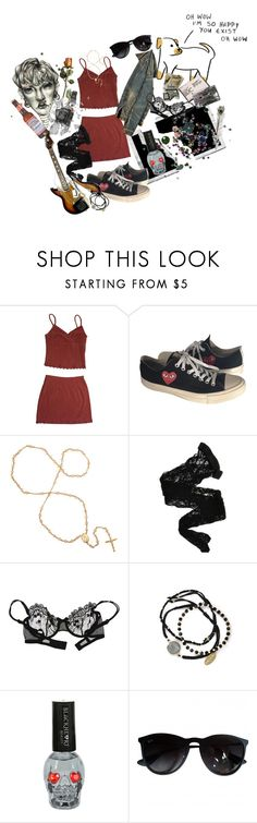 """""""the weirdo"""" by starryrats ❤ liked on Polyvore featuring Polaroid, Comme des Garçons, Wolford, Christies, Feather & Stone, Hot Topic, A2 by Aerosoles and Ray-Ban"""