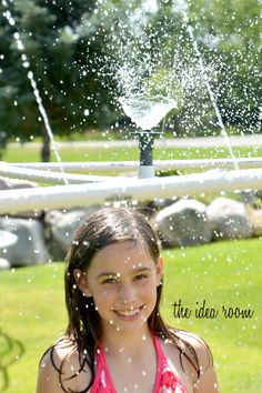 agua verano aspersores actividades