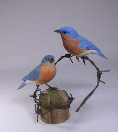 bird carvings photos | Birdhug Studio Original Backyard Bird Carvings