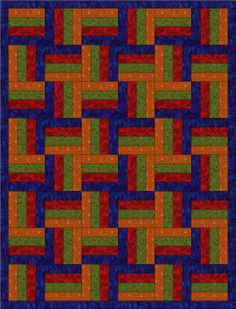 Fence Post Quilt Pattern | Chock-A-Block Quilt Blocks