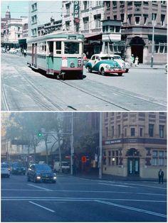 Corner of George and Hay St, Haymarket 1958 > 2016. [SydneyForEveryone > Curt Flood. By Curt Flood]