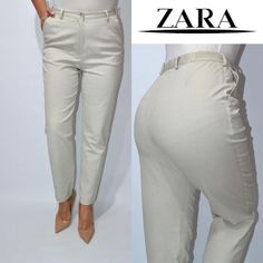 Джинсы брюки бежевые мом высокая посадка zara. ZARA за 255 грн. Zara, Khaki Pants, Suits, Mom, Fashion, Moda, Khakis, Fashion Styles, Suit