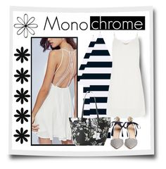"""""""monochrome"""" by sharonbeach ❤ liked on Polyvore featuring IMoshion, Oasis, J.Crew and monochrome"""