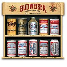 Gift Idea: Ultimate Budweiser Replica Beer Can Collection  $24.99  Love for Papa