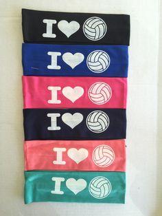 Headbands, I LOVE Volleyball