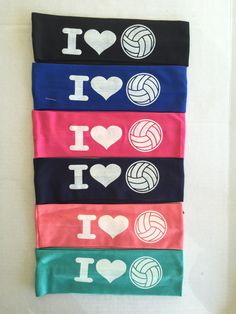 Headbands, I LOVE Volleyball