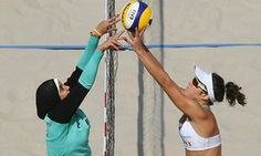 """I have worn the hijab for 10 years... it doesn't keep me away from the things I love to do, and beach volleyball is one of them."""