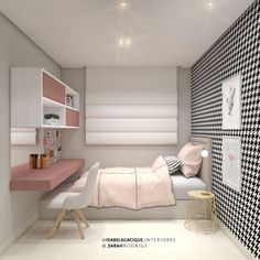 Small Bedroom Inspiration, Cute Bedroom Ideas, Room Ideas Bedroom, Small Room Bedroom, Bedroom Decor, Small Bedroom Interior, Tiny Bedroom Design, Small Room Design, Girl Bedroom Designs