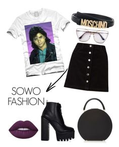 """Untitled #12"" by sowos on Polyvore featuring Moschino, Miss Selfridge, Lime Crime and Mary Katrantzou"