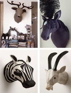 Faux Taxidermy | Design Dose    people buy this on purpose?