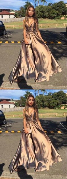 A-line Spaghetti Straps Floor-length Sleeveless Taffeta Prom Dress/Evening Dress 10051