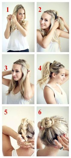 Try this modern spin on the bun.