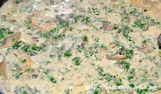 Ciuperci cu sos de brânză Gorgonzola