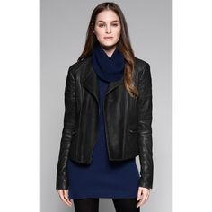 Macha Leather Jacket found on Polyvore