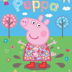 Walltastic Peppa Pig Muddy Puddles Wallpaper Mural - http://www.godecorating.co.uk/walltastic-peppa-pig-muddy-puddles-wallpaper-mural/