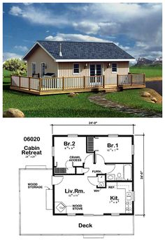 Cabin House Plan 6020