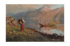 Date by the Fjord Giclee Print by Hans Andreas Dahl at AllPosters.com