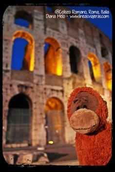Marco Polo en el Coliseo Romano, Italia