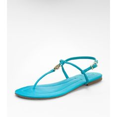 Solid Emmy Sandal (95.275 CLP) ❤ liked on Polyvore featuring shoes, sandals, tory burch, tory burch sandals, tory burch footwear, bright shoes and tory burch shoes