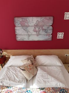 Themed room 'Bohemian' #bedandbreakfast #guesthouse #bohemian #worldmap #creative #design #vintage #weloveourguests #austria #südburgenland #beourguest #comeandstaywithus #themedroom