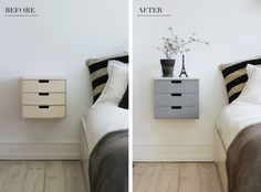 DIY bedside table More