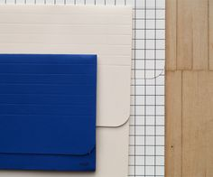 Hay, 3 envelopes: blue, light pink and squared