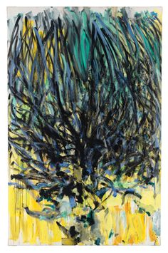 Joan  Mitchell (Am. 1926-1992), Tilleul (Linden Tree), 1978. Oil on canvas, 110¼ x 70-7/8  inches