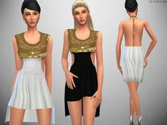 The Sims Resource: Goddess Dress by PureSim • Sims 4 Downloads