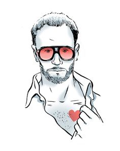 """A PIECE OF ADVICE FROM TOM FORD > """"Keep your jacket buttoned. Always. It's just really flattering—it will take pounds off you."""" (Illustration: Zohar Lazar)"""
