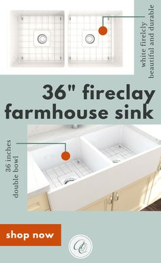 Bocchi Contempo White Fireclay Farmhouse Sink Double With Free Grid Look at the the Contempo Farmhouse Kitchen Sink. Fireclay is known for its durability and long- Double Farmhouse Sink, Fireclay Farmhouse Sink, Fireclay Sink, Farmhouse Sink Kitchen, Farmhouse Decor, Kitchen Sinks, White Farmhouse, Country Kitchen, Modern Farmhouse