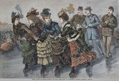 Victorian Women Ice Skating