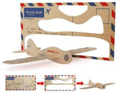 Cardboard Airplane Template | see all 4 photos