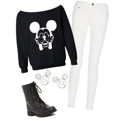 A fashion look from February 2015 featuring Proenza Schouler jeans, Red Circle ankle booties and Disney earrings. Browse and shop related looks.
