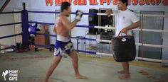 Muay Thai Gifs Pornsaneh demonstrating the lowkick. - Muay Thai - Thai kickboxing - martial arts