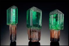 Tourmaline scepters from Barra do Salinas, Minas Gerais, Brazil