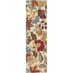 @Overstock - Bring a touch of the garden into your home with the blossoms collection. This floor rug has a ivory background and displays stunning panel colors of green, red, rust, grey, beige and ivory.http://www.overstock.com/Home-Garden/Handmade-Blossom-Ivory-Wool-Rug-23-x-8/6054804/product.html?CID=214117 $89.99