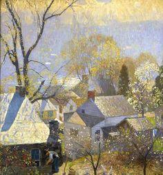 """,""""Springtime in the village"""" by Daniel Garber, 1917"""
