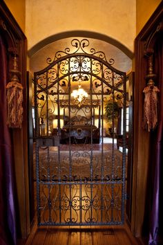Master Bedroom Entrance, beautiful idea if you don't have children... talk about a bedchamber..wow