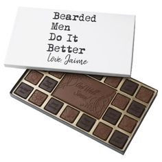 bearded men do it better valentines day 45 piece box of chocolates - kitchen gifts diy ideas decor special unique individual customized